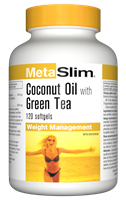 MetaSlim Coconut Oil and Green Tea, 120 softgels