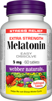 Melatonin, Extra strength, Easy Dissolve, 5 mg, 60 sublingual tablets