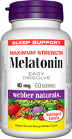 Melatonin, Maximum Strength, Easy Dissolve, 10 mg, 60 sublingual tablets