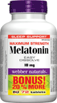 Melatonin, Maximum Strength, Easy Dissolve, 10 mg, BONUS! 20% MORE, 10+12 sublingual tablets