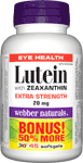 Lutein with Zeaxanthin, Extra Strength, 20 mg, BONUS! 50% MORE, 30+15 softgels