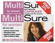 MultiSure for Women, Easy Swallow Multivitamin, BONUS! 33% MORE, 60+20 capsules