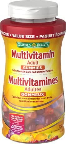 NATURE'S BOUNTY ADULT Value Size 150 GUMMIES 12'S
