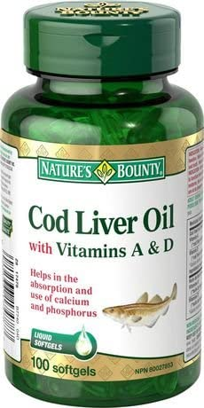 NATURE'S BOUNTY COD LVR OIL CP 100'S