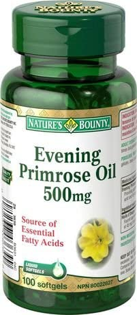 NATURE'S BOUNTY EVENING PRIMROSE OIL 500MG SOFTGEL CAPS 100'S