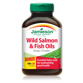 Jamieson Wild Salmon and Fish Oils Omega-3 Complex, 200 softgels
