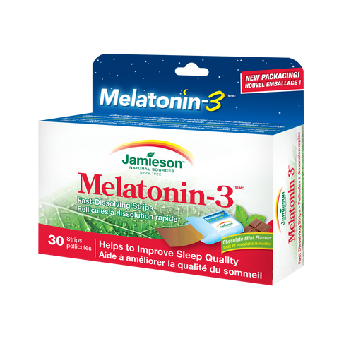 Melatonin-3™ Strips – Chocolate Mint, 30 strips