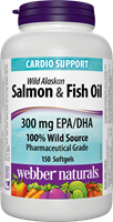 Omega-3 Wild Salmon & Fish Oils, 1000 mg (EPA 180, DHA 120), 150 softgels