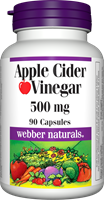 Apple Cider Vinegar, 500 mg, 90 capsules