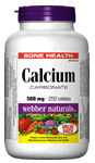 WEBBER Calcium Carbonate, 500 mg, 250 tablets