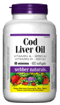 Cod Liver Oil, Vitamin A and D, 10 minims, 1250 IU/100 IU, 180 softgels