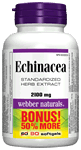 Echinacea, Standardized Herb Extract (8:1 extract), 2100 mg, BONUS! 50% MORE, 60+30 softgels