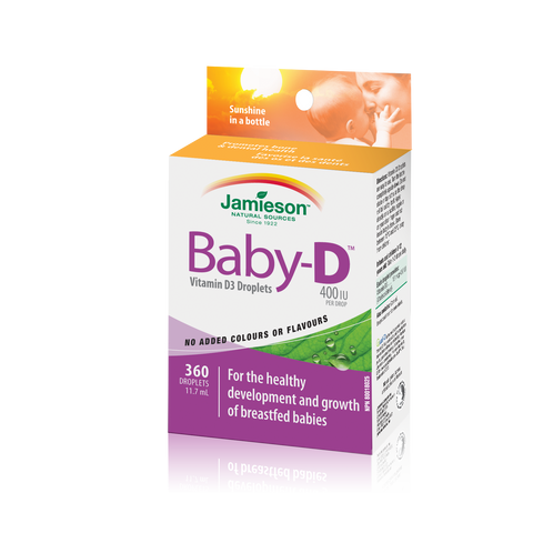 Jamieson Baby-D Vitamin D3 400 IU Droplets, 360 drops