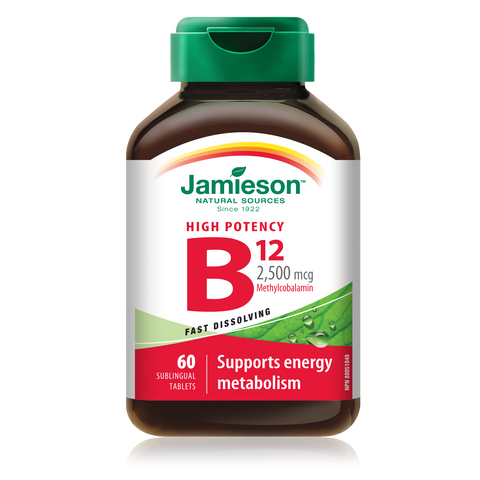 Jamieson Vitamin B12 2,500 mcg Sublingual Tablets, 60 sublingual tabs