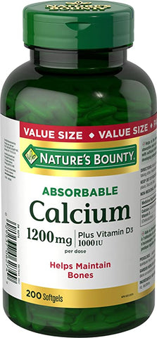 NATURE'S BOUNTY ABSORBABLE CALCIUM 200'S