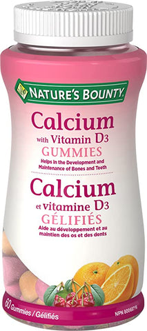 NATURE'S BOUNTY CALCIUM W/VIT D GUMMIES 60'S