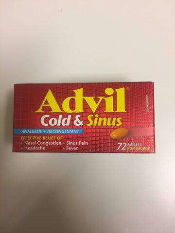 Advil Cold & Sinus Non-drowsy 72's
