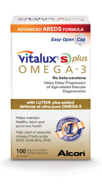 VITALUX-S PLUS , 100 SOFT GEL CAPSULES