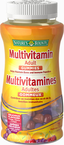 NATURE'S BOUNTY ADULT GUMMIES 75'S