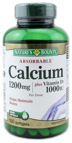 NATURE'S BOUNTY ABSORBABLE CALCIUM SOFTGELS 100'S