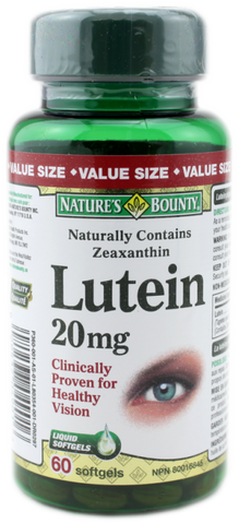 NATURE'S BOUNTY LUTEIN 20MG VAL 60'S