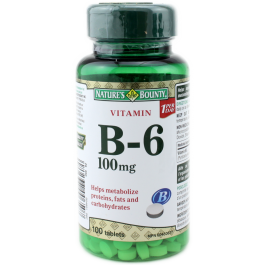 NATURE'S BOUNTY B-6 100MG TABS 100'S