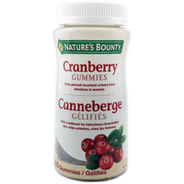 NATURE'S BOUNTY CRANBERRY GUMMIES  60's