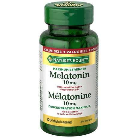 NATURE'S BOUNTY MELATONIN 10MG VALUE PACK 120'S