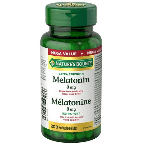 NATURE'S BOUNTY MELATONIN 5MG MEGA 200'S