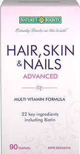 NATURE'S BOUNTY HAIR, SKIN & NAILS ADVANCED TABS 90'S