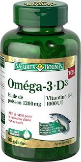 NATURE'S BOUNTY FISH OIL W/VITD 90'S