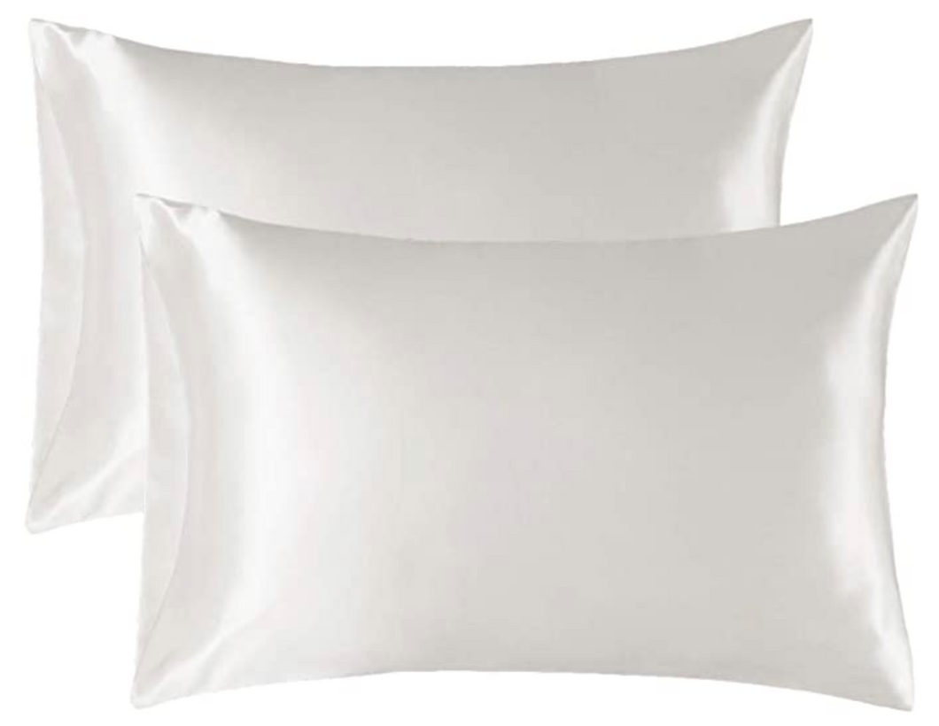 Lazey x Topknot Satin Pillowcase - White