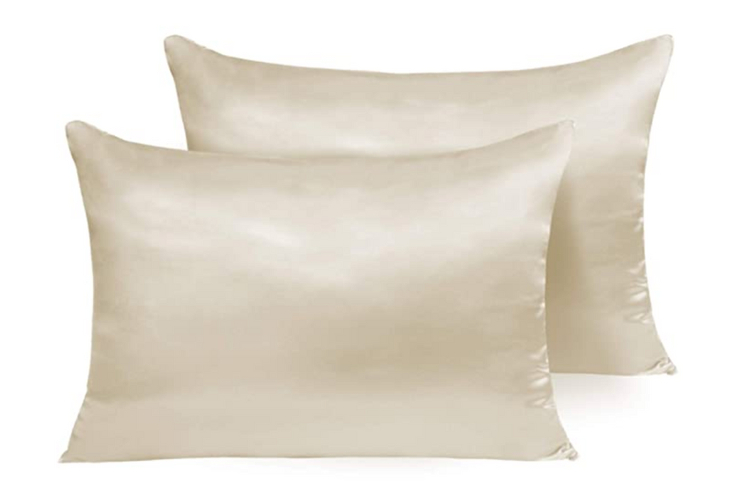 Lazey x Topknot Satin Pillowcase - Champagne
