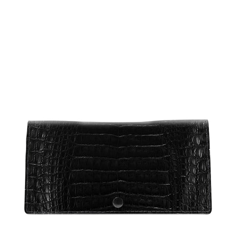 Celine Black Crocodile Womens Wallet | Valenz Handmade