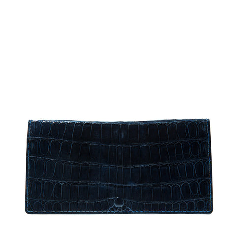 Celine Navy Blue Crocodile Womens Wallet | Valenz Handmade
