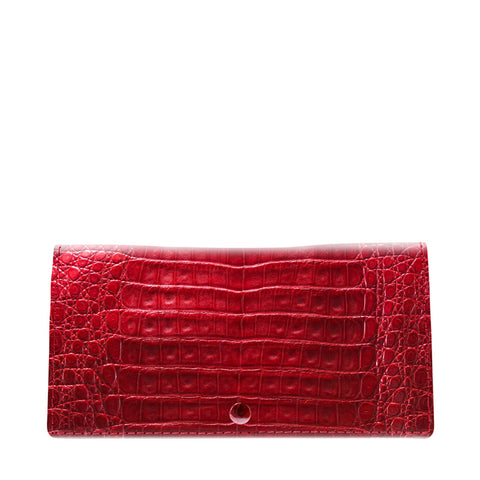 Celine Red Crocodile Womens Wallet | Valenz Handmade