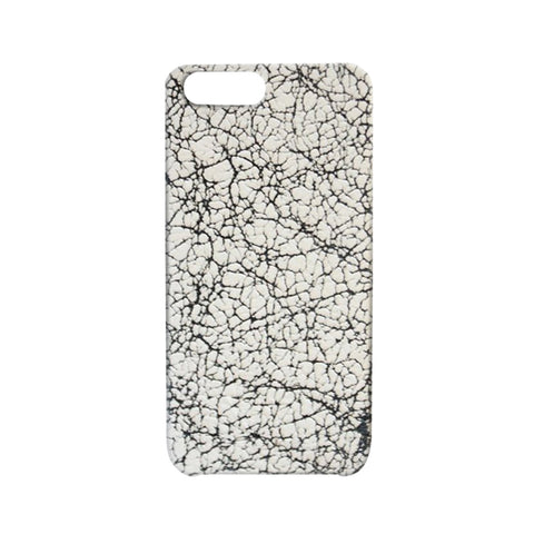 Cracked Leather White iPhone Case | Valenz Handmade