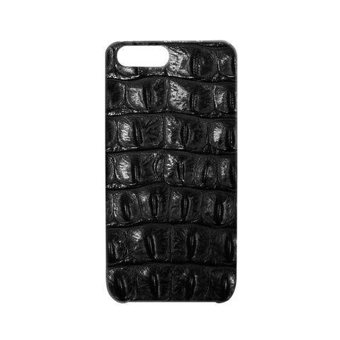 Embossed Crocodile Black iPhone Case | Valenz Handmade