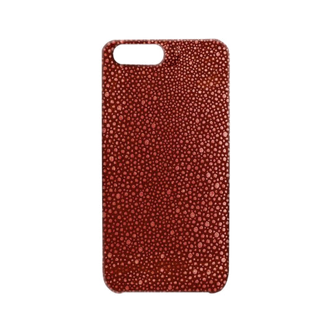 Embossed Stingray Red iPhone Case | Valenz Handmade
