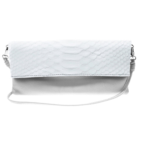 Kelly White Python Crossbody Bag | Valenz Handmade