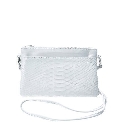 Kim White Python Crossbody Bag | Valenz Handmade