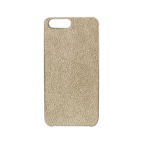 Metallic Leather Light Gold iPhone Case | Valenz Handmade