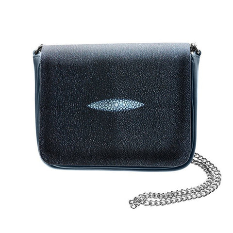 Sharon Navy Blue Stingray Eye Crossbody Bag | Valenz Handmade