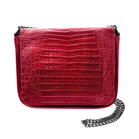 Sharon Red Crocodile Crossbody Bag | Valenz Handmade