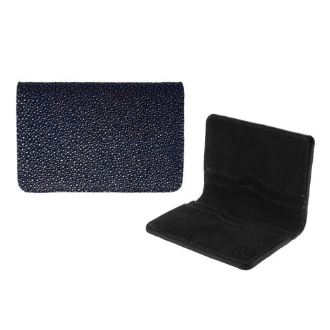 Bifold Wallet Navy Blue Stingray | Valenz Handmade