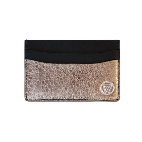 Card Holder Bronze Crack Italian Leather | Valenz Handmade