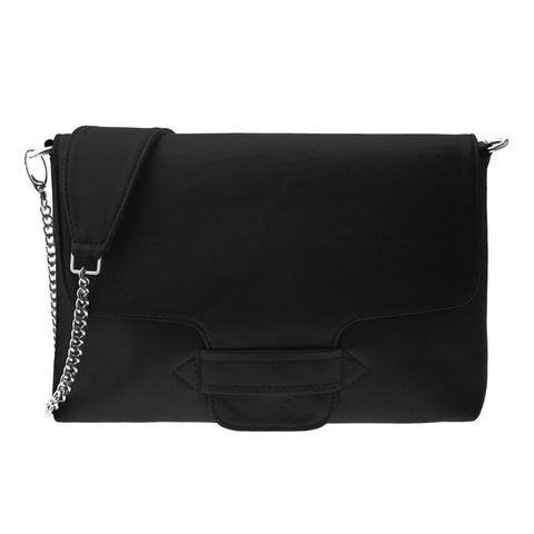 Carole Black Leather Crossbody Bag | Valenz Handmade
