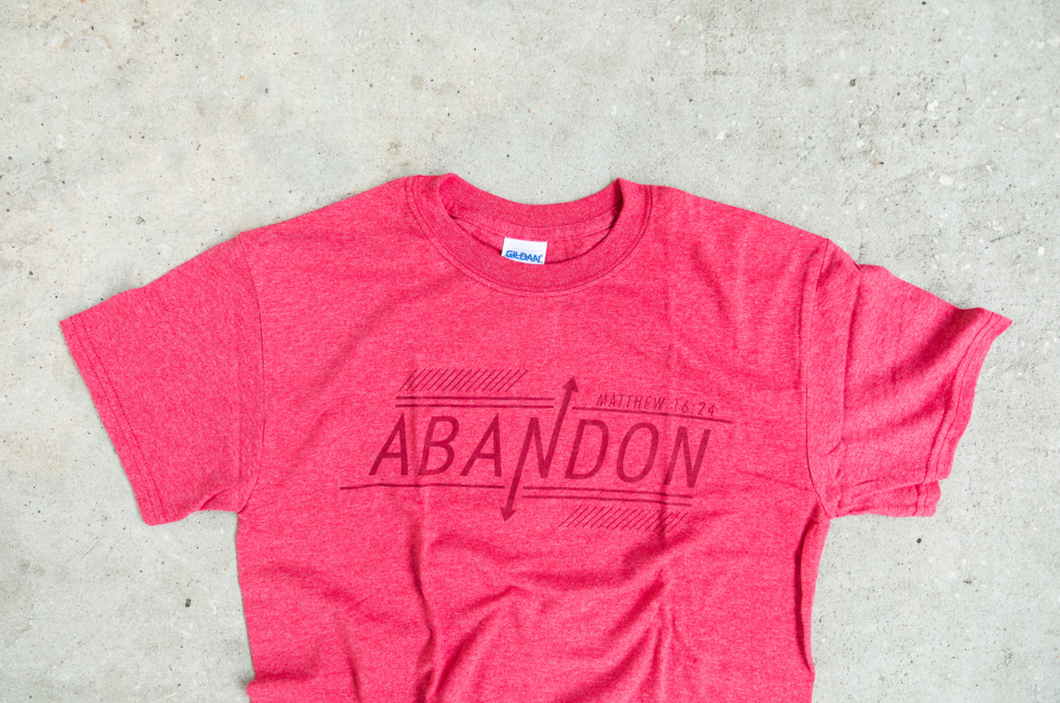 UNIQUE ABANDON Red T shirt