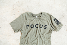 Load image into Gallery viewer, UNIQUE FOCUS Sage Green T-Shirt