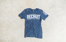 Load image into Gallery viewer, UNIQUE RECRUIT Heather Blue T- Shirt